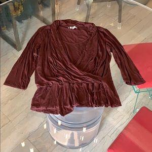 Jennifer Lopez Asymmetrical Blouse/wrap size XL